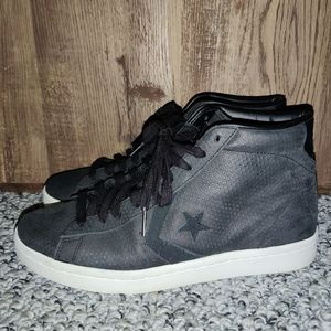 Mens Converse Leather High top Lunarlon sneakers